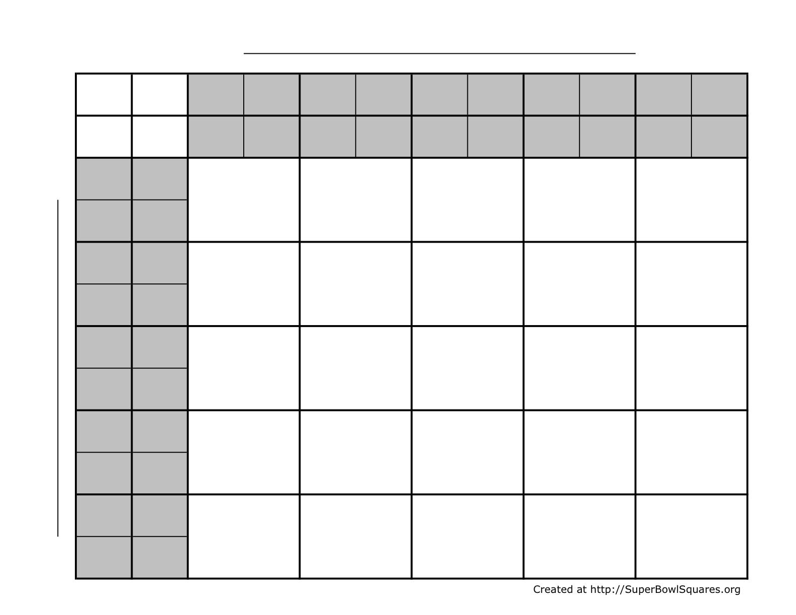 Printable Basketball Squares Sheets