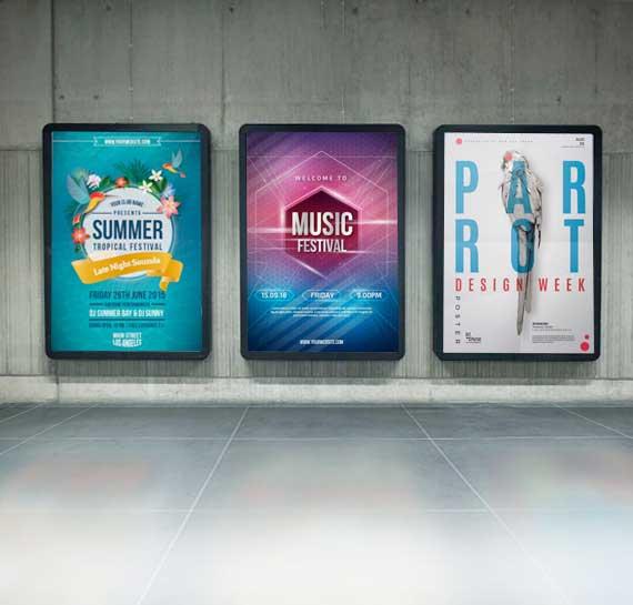 backlit film posters
