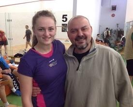 alina ionut la campionatul national de squash