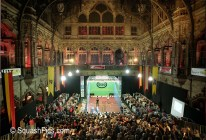 Squash court erected in Handelsbeurs Stock Exchange, Antwerp for 2002 World Open