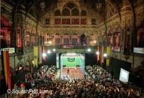 Squash court erected in Handelsbeurs Stock Exchange, Antwerp for 2002 World Open