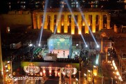 Red Bull Squash Temple 2010, Nov 19-21. 8 of the World's top squash players compete for the game's biggest-ever first prize on a court erected in front of the Luxor Temples.. Standard repro rates apply to Stephen Line, 5 Arlington Avenue, Goring-by-sea, Worthing BN12 4SX, England