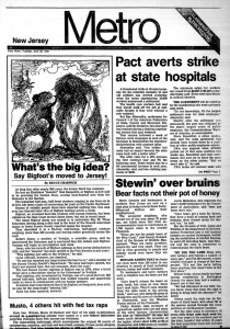 Story of New Jersey Bigfoot.