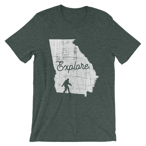 Heather forest green explore Georgia Bigfoot t-shirt