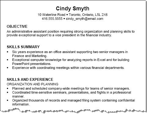 Example Sample Resume Sample Resume For A College Student Sample