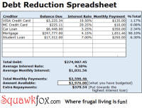 Getting out of debt with the Debt Reduction Spreadsheet ...