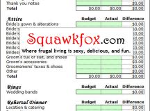 Free Wedding Budget Planner Spreadsheet - Squawkfox