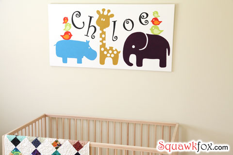 nursery wall art decorate