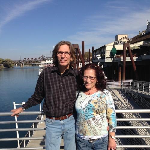Phillip and Diana in Santa Cruz, at the Pier