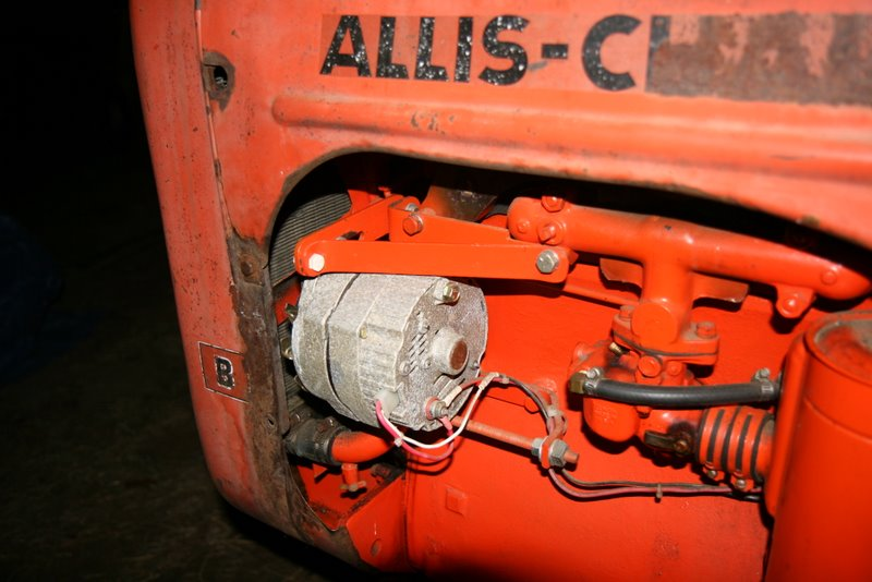 Amp Gauge Wiring Diagram For Tractor Squid S Fab Shop Allis Chalmers B Alternator Conversion