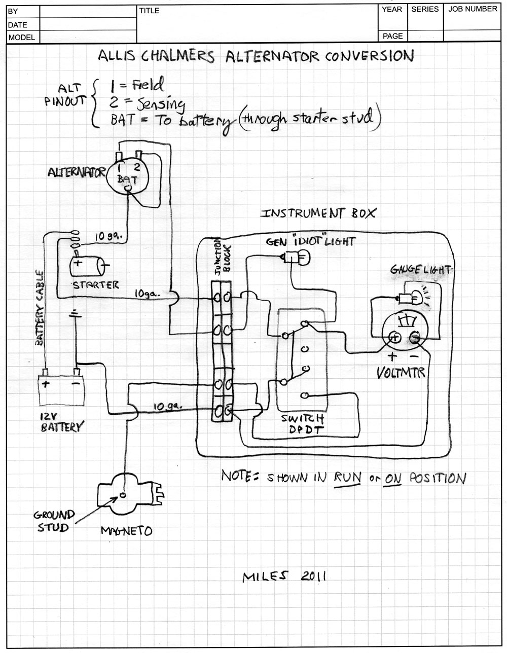 10si alternator wiring diagram crocodile skeleton anatomy squid s fab shop allis chalmers b conversion schematic