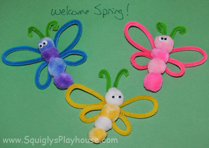 Spring Butterflies Pipe Cleaner Craft Squigly S Playhouse