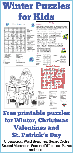 Winter Puzzles for Kids  Squiglys Playhouse