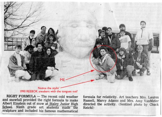 snow sculpture from 1990