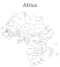 Africa map key