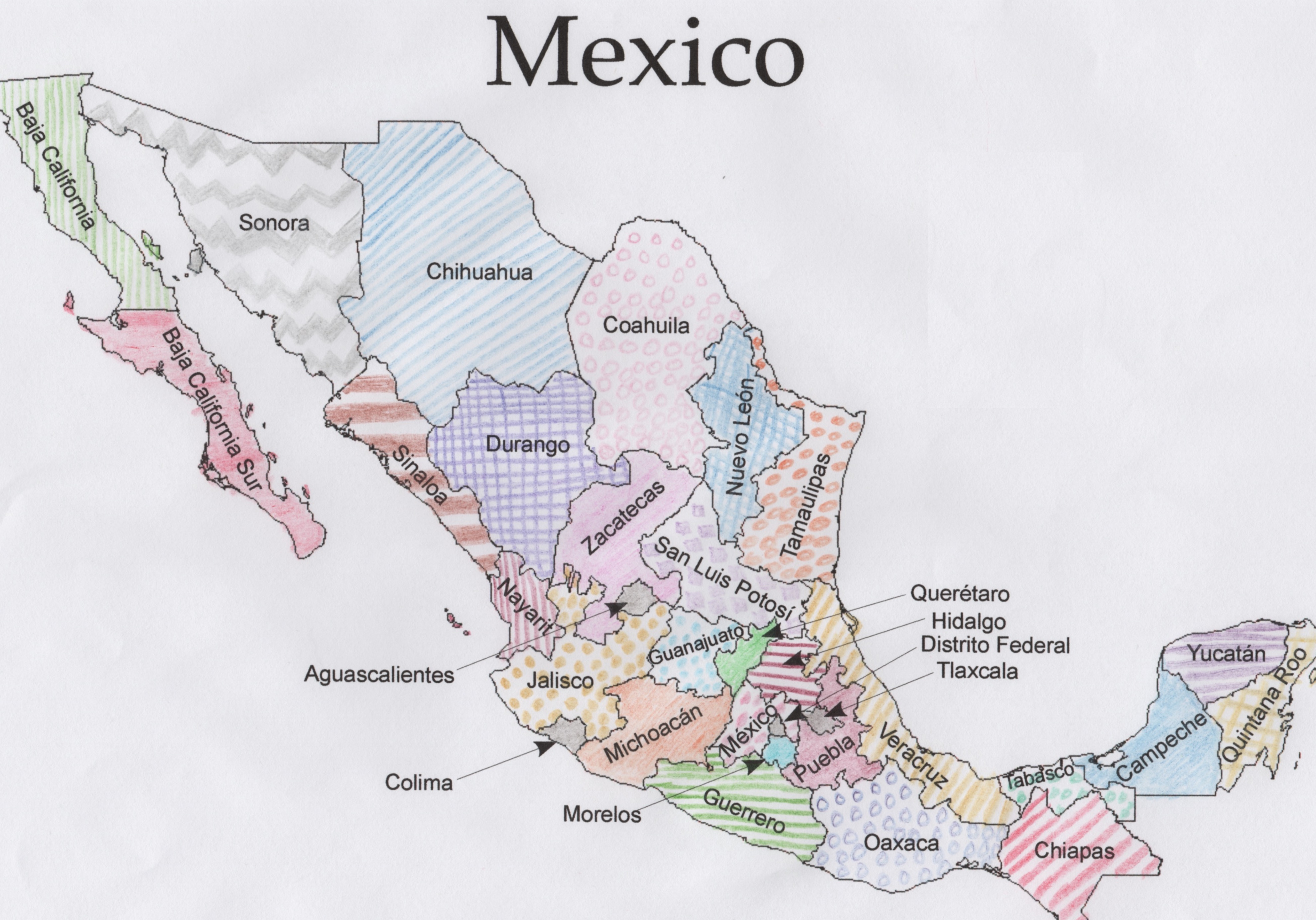 Magic Printable Map Of Mexico