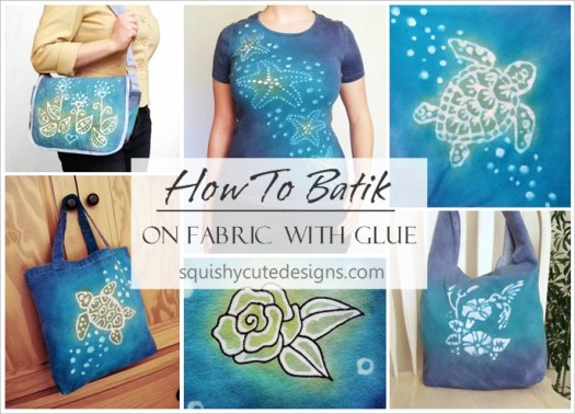 How To Batik Fabric With Glue Tie Dye Shirts Instructions
