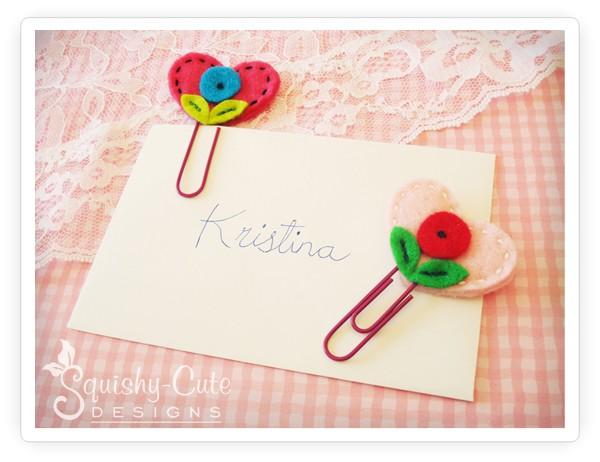 Crianças costura projetos, coração marcador, dia dos namorados