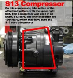 ka24de ac compressor to sr20det conversion bracket kit [ 1648 x 1740 Pixel ]