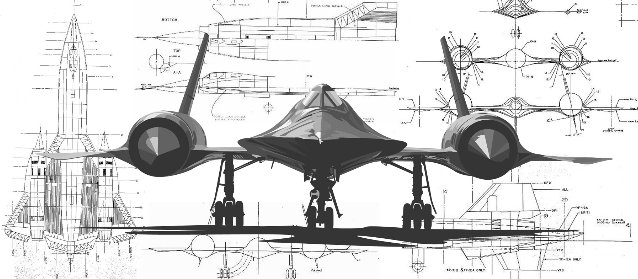Schematic of the SR-71