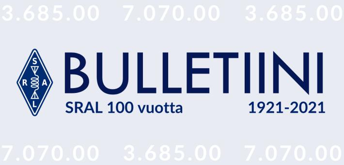 Suomen Radioamatööriliiton toimiston tiedote 08/2021, 27.2.2021