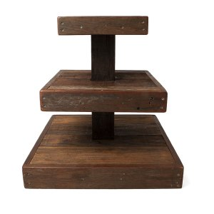 3 tier rustic stand