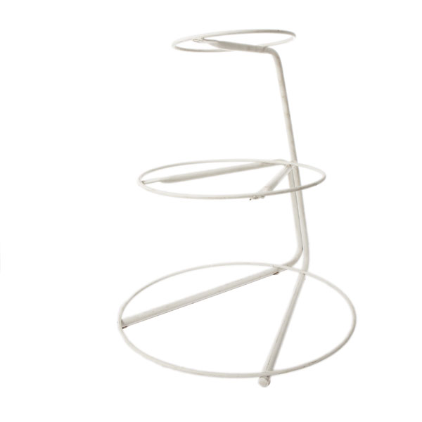 3-tier white wire stand to use with plates