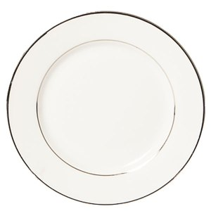Sylvia dinner plate with silver rim