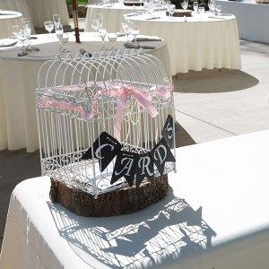 White wire birdcage - special card holder (idea)