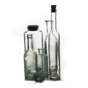 Assorted vintage bottles