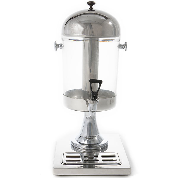 Silver drink dispenser with spigot