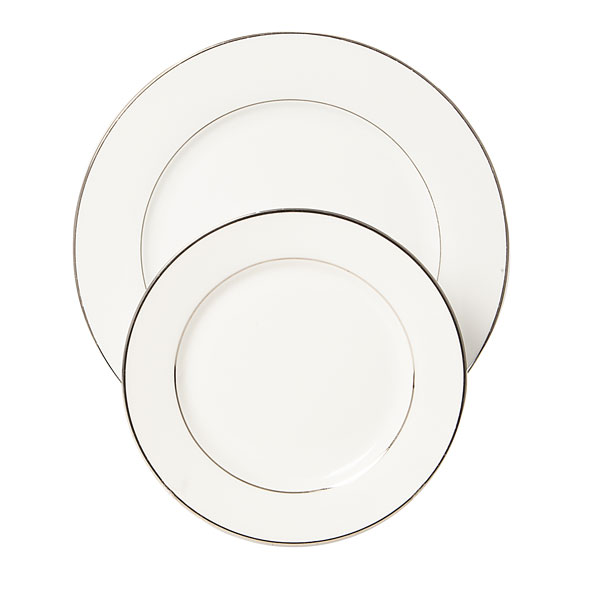 Sylvia plates - silver rimmed