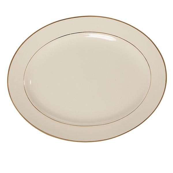 Oval gold rimmed platter