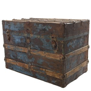 Vintage trunk with patina