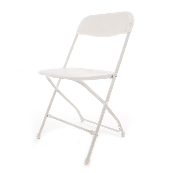 Basic white folding chair