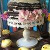 White vintage cake stand