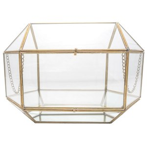 Gold Rimmed glass box