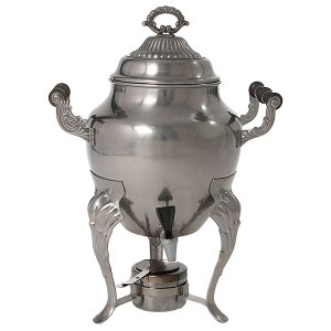 Hot beverage urn with handles.