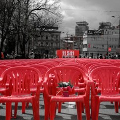 Red Chairs Sarajevo Chair Cover Up Line Project