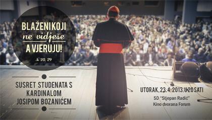 Održava se susret studenata s kardinalom Bozanićem