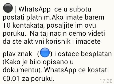 Poruke o početku naplate Vibera i WhatsAppa su lažne!