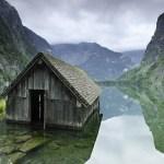 Ribarska kućica na jezeru u Njemačkoj