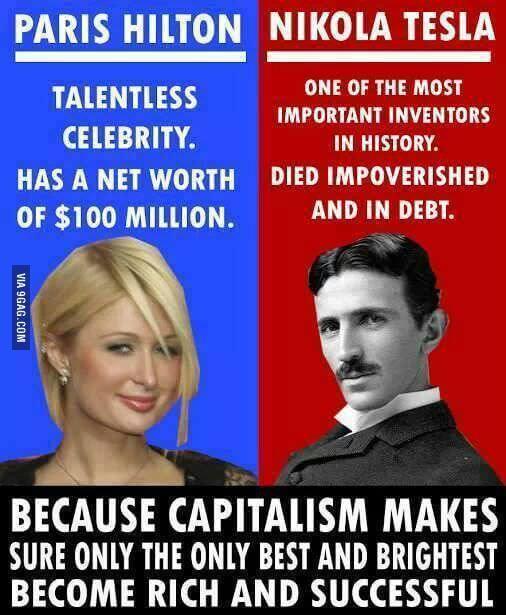 Sličnost između Paris Hilton i Nikole Tesle
