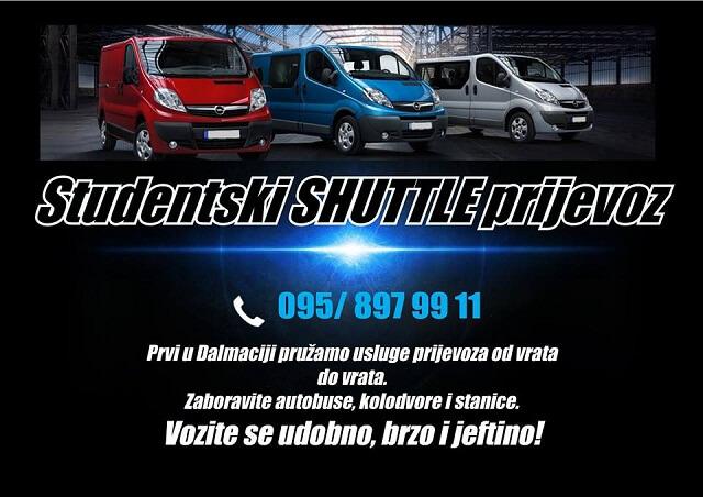Studentski Shuttle prijevoz: Prvi u Dalmaciji pružaju prijevoz od vrata do vrata