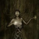 'Električna meduza', digital mixed-media