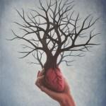 'Srce koje hrani', akril na platnu