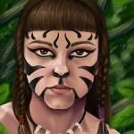 'Ratne boje', digitalna ilustracija