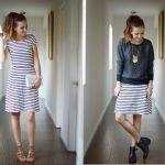 Ako niste ljubitelji čarapa, određene modele haljina možete pretvoriti u suknje pomoću pulovera.