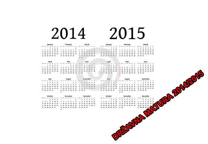 Kalendar aktivnosti 2014/2015: Datumi kojih se morate pridržavati