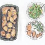 13.06 krumpir pečeni s peršinom + salata